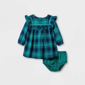 Baby Girls Flannel Ruffle Dress - Cat & Jack NB